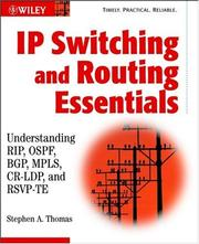 Cover of: IP Switching and Routing Essentials | Stephen A. Thomas