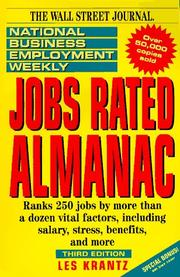 Cover of: National business employment weekly jobs rated almanac