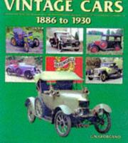 Cover of: Vintage Cars 1886 to 1930