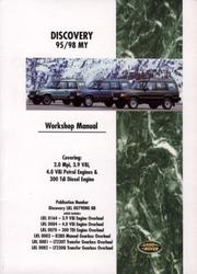 Cover of: Land Rover Discovery 1995-98 Official Workshop Manual (Workshop Manual Land Rover) | Brooklands Books Ltd