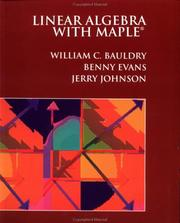 Cover of: Linear algebra with Maple