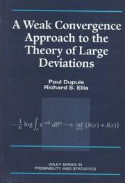 Cover of: A weak convergence approach to the theory of large deviations