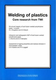 Cover of: Welding of Plastics |