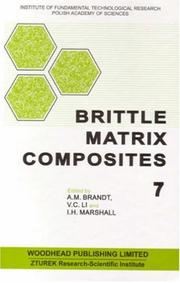 Cover of: Brittle matrix composites 7 |