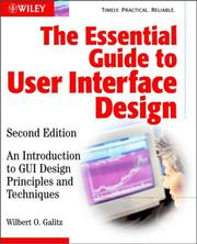 Cover of: The Essential Guide to User Interface Design | Wilbert O. Galitz