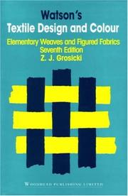 Cover of: Watsons Textile Design and Colour | Z. Grosicki