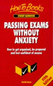 Cover of: Passing Exams Without Anxiety