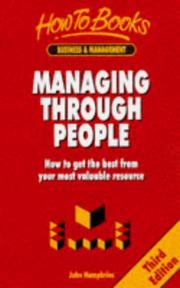 Cover of: Managing Through People