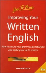 Cover of: Improving Your Written English | Marion Field