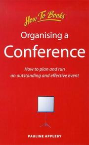 Cover of: Organizing a Conference