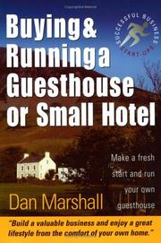 Cover of: Buying and Running a Guesthouse or Small Hotel