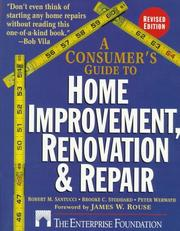 Cover of: A consumer's guide to home improvement, renovation, and repair