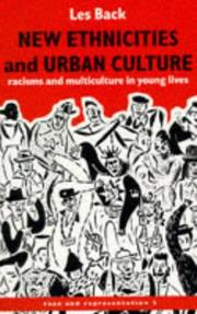 Cover of: New Ethnicities And Urban Culture | Les Back