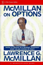 Cover of: McMillan on options | L. G. McMillan