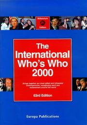 Cover of: International Who's Who 2000 | 63rd  Ed