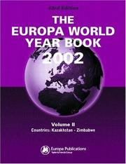 Cover of: Europa World Year Book | Europa Publications
