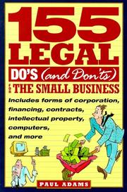 Cover of: 155 legal do's (and don'ts) for the small business