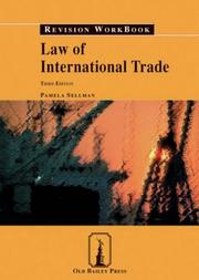 Cover of: Law of International Trade Revision Workbook (Revision Workbooks)