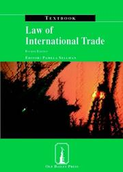 Cover of: Law of International Trade Textbook