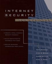 Cover of: Internet security for business | Terry Bernstein ... [et al.].