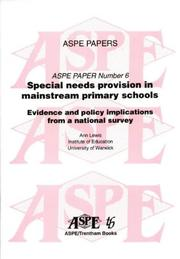 Cover of: Special Needs Provision in Mainstream Primary Schools