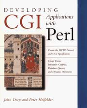Developing CGI applications with Perl by John Deep