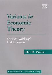 Cover of: Variants in Economic Theory