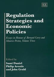 Cover of: Regulation Strategies and Economic Policies |