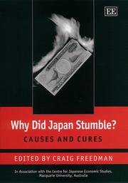 Cover of: Why Did Japan Stumble? |