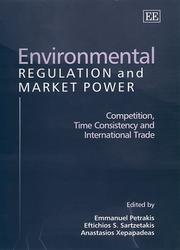 Cover of: Environmental Regulation and Market Power |