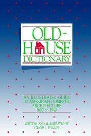 Cover of: Old-house dictionary