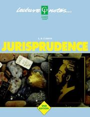 Cover of: Lecture Notes on Jurisprudence
