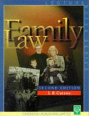 Cover of: Lecture Notes On Family Law | Peter Curzon