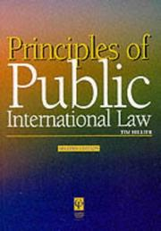Cover of: Principles of Public International Law (Principles of Law Series) | Timothy Hillier
