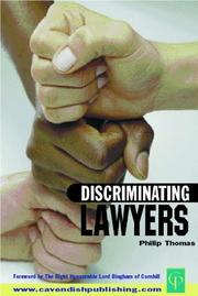 Cover of: Discriminating lawyers |