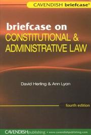 Cover of: Briefcase on Constitutional & Admin 4ED (Briefcase)