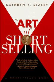 Cover of: The art of short selling