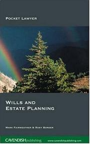 Cover of: Wills and Estate Planning 2/e