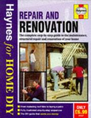 Cover of: Repair and Renovation (Haynes for Home DIY)