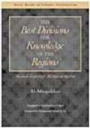 Cover of: Best Divisions for Knowledge of the Regions | Al-Muqaddasi