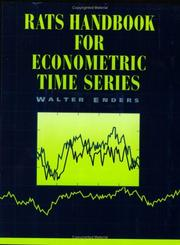Cover of: RATS handbook for econometric time series