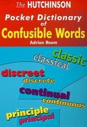 Cover of: Hutchinson Pocket Dictionary of Confusible Words (Hutchinson Pocket Dictionaries)