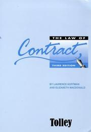 Cover of: The Law of Contract | Elizabeth MacDonald