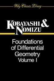 Foundations of differential geometry by Shoshichi Kobayashi