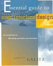 Cover of: The Essential Guide to User Interface Design