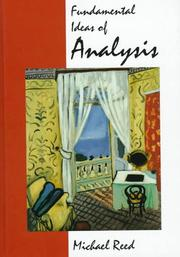 Cover of: Fundamental ideas of analysis
