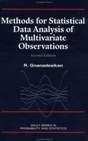 Cover of: Methods for statistical data analysis of multivariate observations