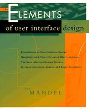 Cover of: The elements of user interface design