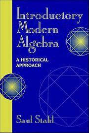 Cover of: Introductory modern algebra: a historical approach