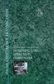 Cover of: Designing Cost-Effective Composites (Imeche Event Publications)